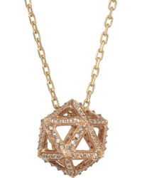 Noor Fares - Metallic Icosagon 18karat Rose Gold Diamond Necklace - Lyst