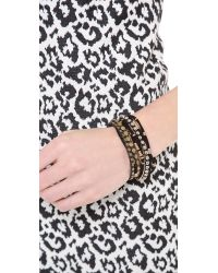 Serefina - Black Suede Magnetic Cuff Bracelet - Lyst