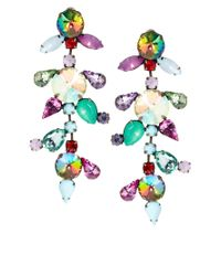 ASOS - Multicolor River Island Multi Jewelled Drop Earring - Lyst