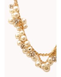 Forever 21 - Natural Luxe Lover Faux Pearl Necklace - Lyst