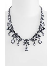 Givenchy | Metallic Crystal Frontal Necklace | Lyst