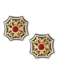 Konstantino | Red Coral Stud Starburst Earrings | Lyst