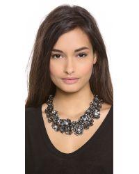 Lee Angel - Black Flower Crystal Necklace - Lyst