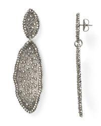 Roni Blanshay - Metallic Wavy Linear Earrings - Lyst