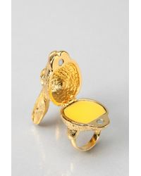 Andrea Garland - Metallic Lip Balm Hartley Hare Ring Medium - Lyst