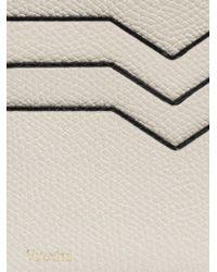 Valextra - White Leather Bifold Wallet - Lyst