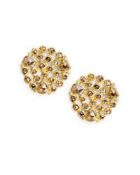 Bavna | Metallic 119 Tcw Champagne Diamond 18k Gold Cluster Earrings | Lyst