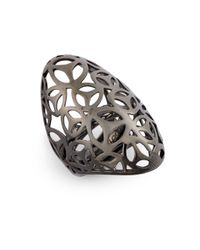 Di Modolo - Metallic Openwork Cocktail Ring - Lyst