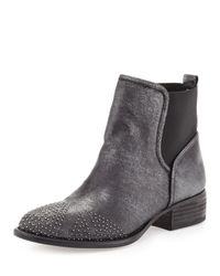 Donald J Pliner   Black Pronto Metallic Stud Ankle Boot Natural   Lyst