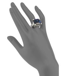 Judith Ripka | Blue Stone Sterling Silver Ring | Lyst