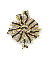 Kenneth Jay Lane - Metallic Bow Pin - Lyst