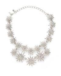 Kenneth Jay Lane - Metallic Starburst Double Row Necklace - Lyst