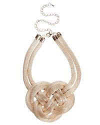 ASOS - Natural Knot Collar - Lyst