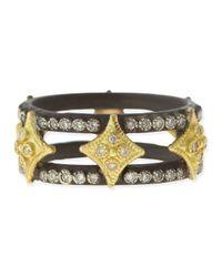 Armenta - Black Midnight Double Cravelli Cross Ring with Diamonds - Lyst