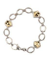 Lagos - Metallic Gold Rocks Bracelet Goldsilver - Lyst