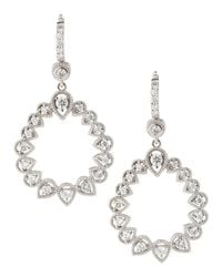 Penny Preville - Metallic Openpear Diamondhoop Earrings - Lyst