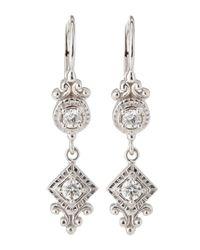 Penny Preville - Metallic Square Rounddrop Diamond Earrings - Lyst