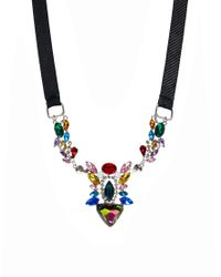 ASOS - Blue River Island Fluro Stone Ribbon Statement Necklace - Lyst