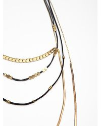 Free People - Black Groupie Layered Necklace - Lyst