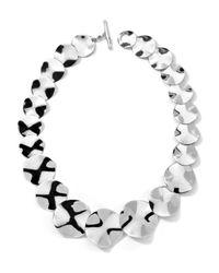 Ippolita | Metallic Sterling Silver Scultura Wavy Disc Collar Necklace 20l | Lyst