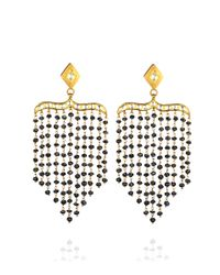 Madhuri Parson - Blue Oneofakind Tshape Sapphire Rock Crystal Peacock Chandelier Earrings - Lyst