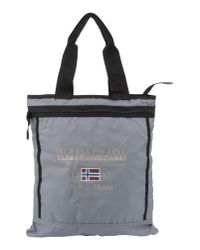 Napapijri - Gray Large Fabric Bag for Men - Lyst