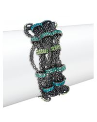 ABS By Allen Schwartz - Multicolor Multistrand Chain Bracelet - Lyst