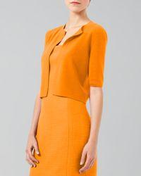 Akris Punto - Orange Halfsleeve Cardigan  - Lyst