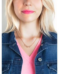 BaubleBar - Metallic Silver Micro Link Necklace - Lyst
