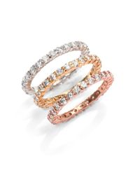 Belargo - Multicolor Eternity Band Stackable Ring Set - Lyst