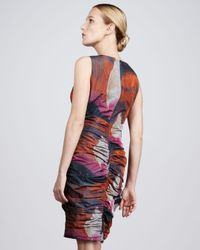 Bigio Collection - Multicolor Ruched Taffeta Dress - Lyst