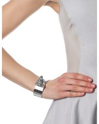 Eddie Borgo | Metallic Silver Plated Hook Latch Cuff | Lyst