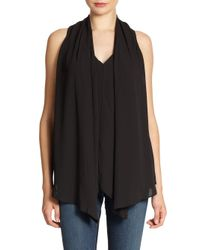 Elizabeth and James | Black Modern Grace Drapedfront Blouse | Lyst