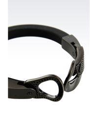 Emporio Armani - Black Bracelet - Lyst