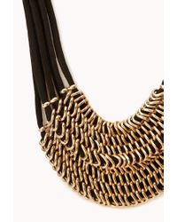 Forever 21 - Metallic Striking Layered Chain Bib Necklace - Lyst