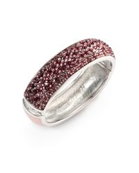 Judith Leiber - Purple Paparazzi Glitz Up Swarovski Crystal Bangle Bracelet - Lyst
