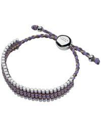 Links of London | Purple Adjustable Cord Friendship Bracelet | Lyst