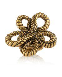 Oscar de la Renta - Metallic Goldplated Knot Ring - Lyst