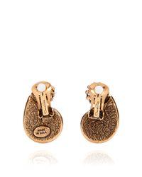 Oscar de la Renta - Blue Swarovski And Calibre Style Petal Earring - Lyst
