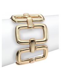 Saks Fifth Avenue - Metallic Rectangle Link Bracelet - Lyst