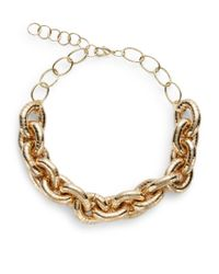 Saks Fifth Avenue | Metallic Chunky Link Necklace | Lyst
