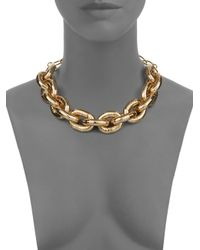 Saks Fifth Avenue - Metallic Chunky Link Necklace - Lyst
