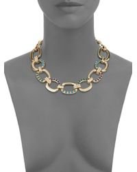 Saks Fifth Avenue - Metallic Pavã Chain Link Necklace - Lyst