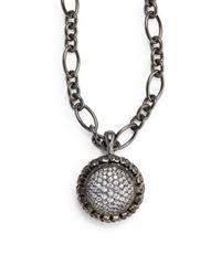 Slane | Metallic White Sapphire Sterling Silver Pendant | Lyst