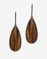 Susan Hanover | Brown Faceted Stone Hook Earrings | Lyst