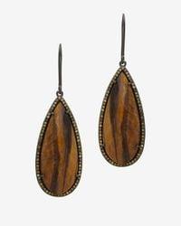 Susan Hanover - Brown Faceted Stone Hook Earrings - Lyst