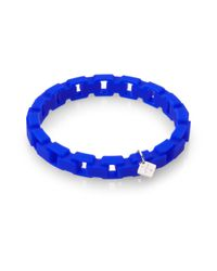 Tateossian | Blue Rubber Box Chain Bracelet for Men | Lyst