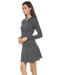 Thakoon Addition | Gray Flared Skirt Dress | Lyst