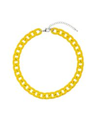 TOPSHOP - Chunky Yellow Chain Necklace - Lyst