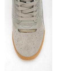 Urban Outfitters - Gray Puma Clear Sky Leather Hidden Wedge Hightop Sneaker - Lyst